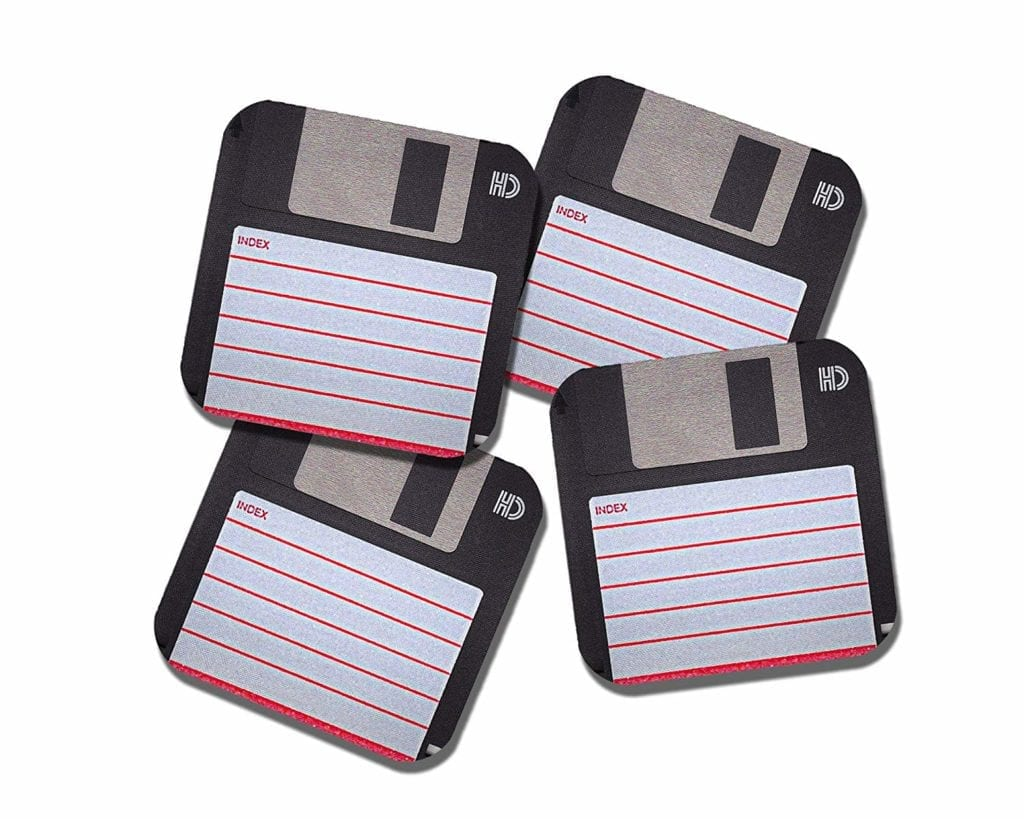 Nerdy Floppy Disc Coasters Gift set