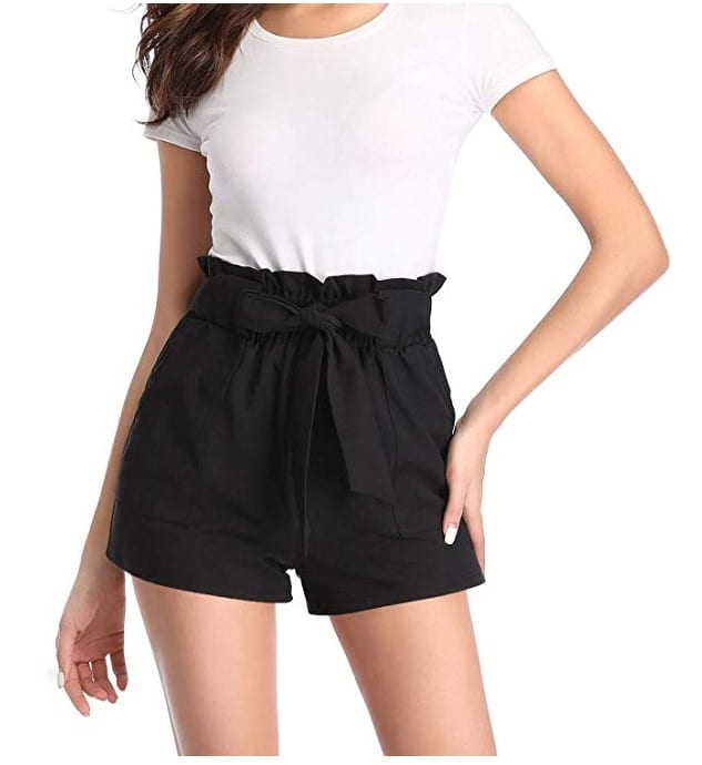 Paper Bag Shorts For Woman