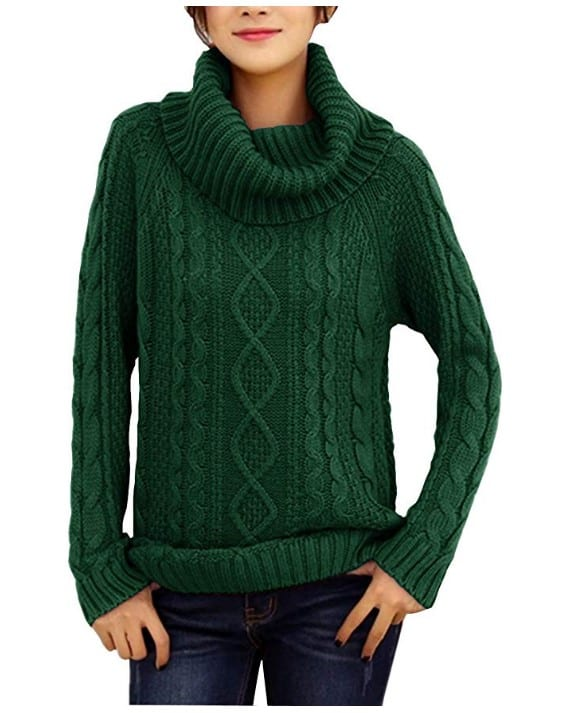 Taiwanese Fashion Womens Turtleneck Sweater Jumper
