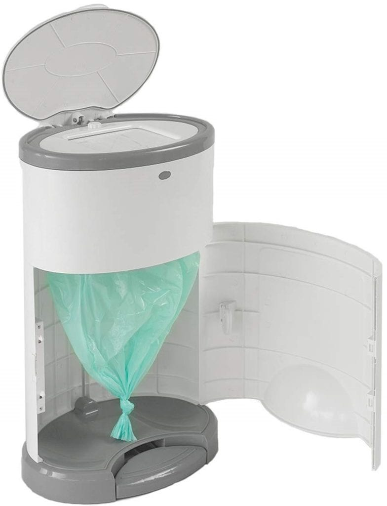 Korbell Mini 9 Litre, Hands Free Baby Nappy Disposal Bin, Pure White