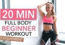 20 MIN FULL BODY WORKOUT - Beginner Version // No Equipment