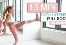 15 Minute Full Body HIIT Workout - Womens Fitness