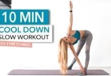 10 MINUTE COOL DOWN ROUTINE - slow workout, suitable for nighttime