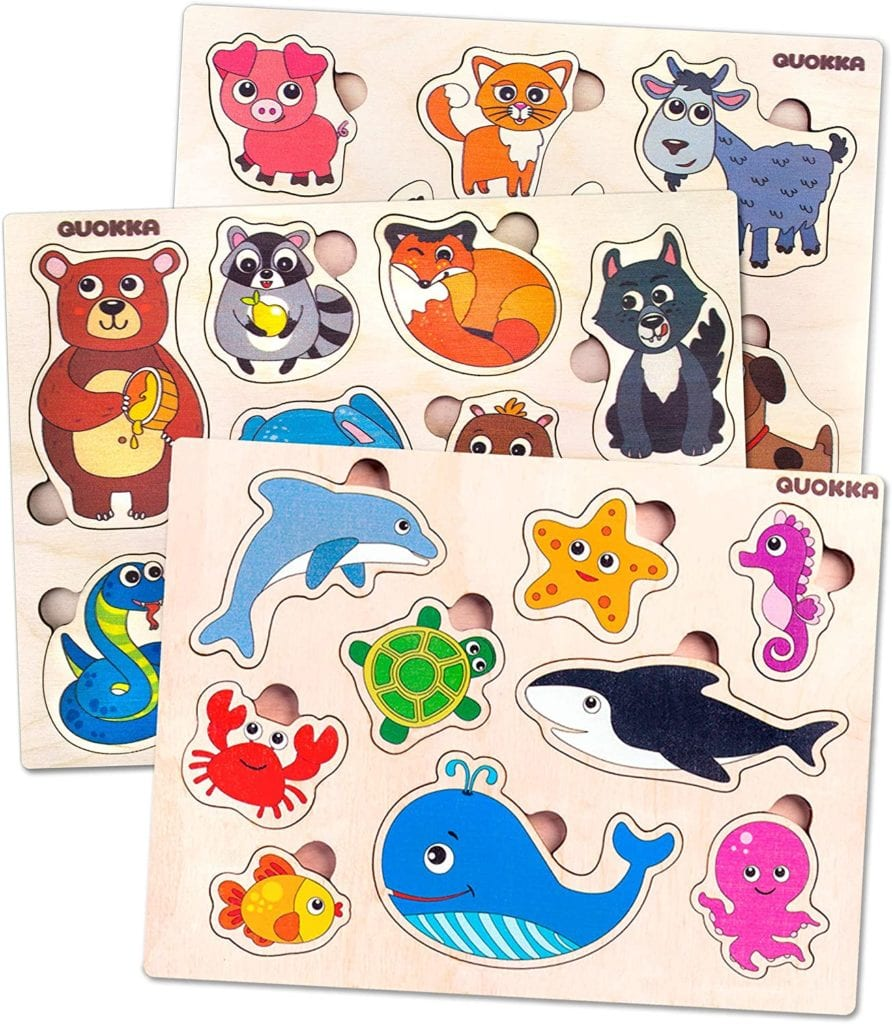 BEST TOYS FOR 1 YEAR OLDS Children's Wooden Puzzles