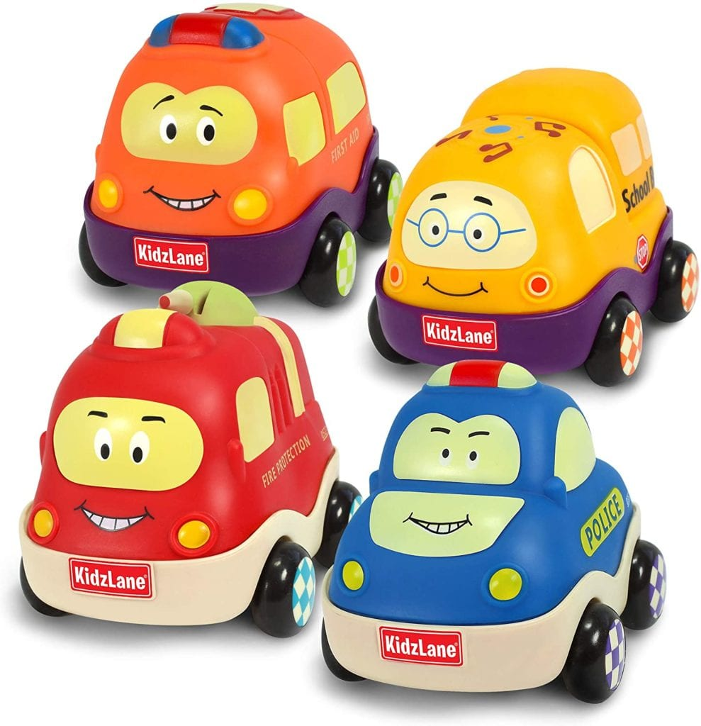 Kidzlane Pull Back Cars Toys for Babies & Toddlers Toys for 1 Year Old Toddlers  BABY GIFT IDEAS