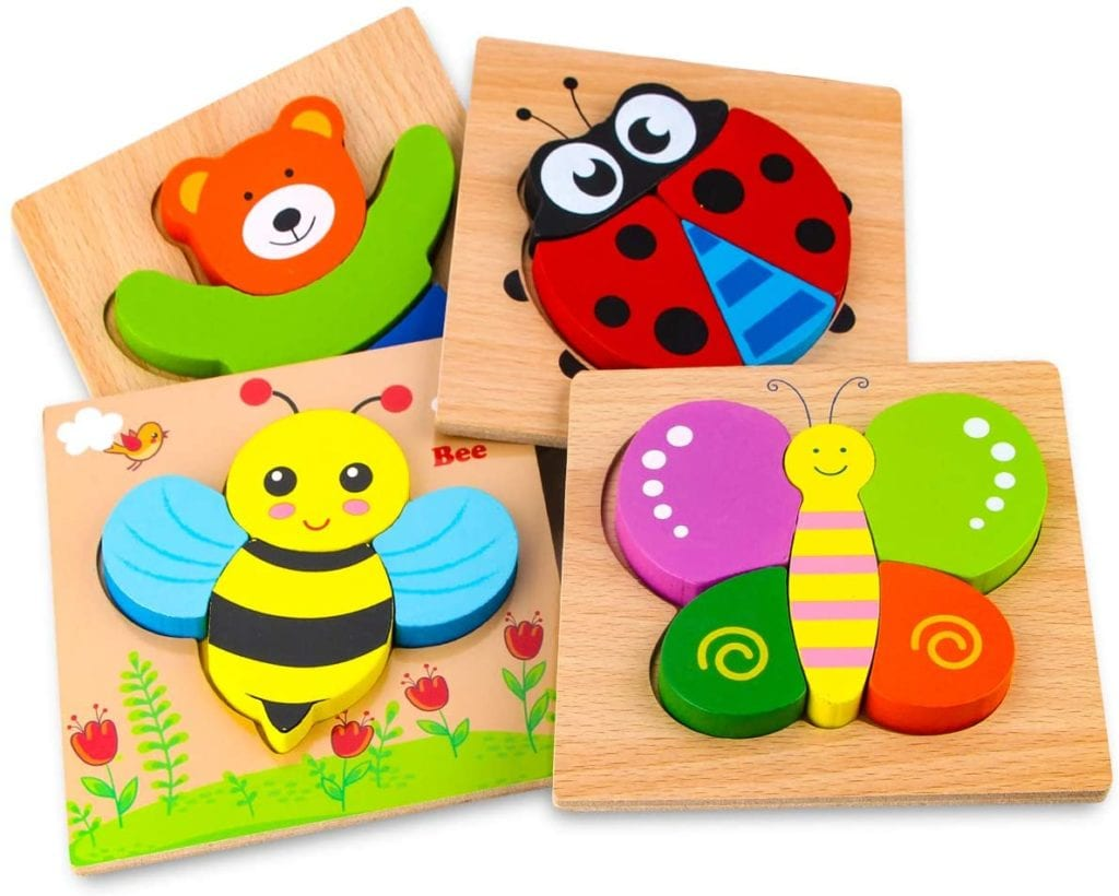 Wooden Animal Jigsaw Puzzles BEST TOYS FOR ONE YEAR OLDS