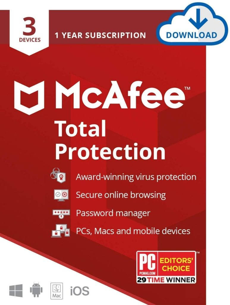 McAfee Total Protection 2020 Antivirus Internet Security Software