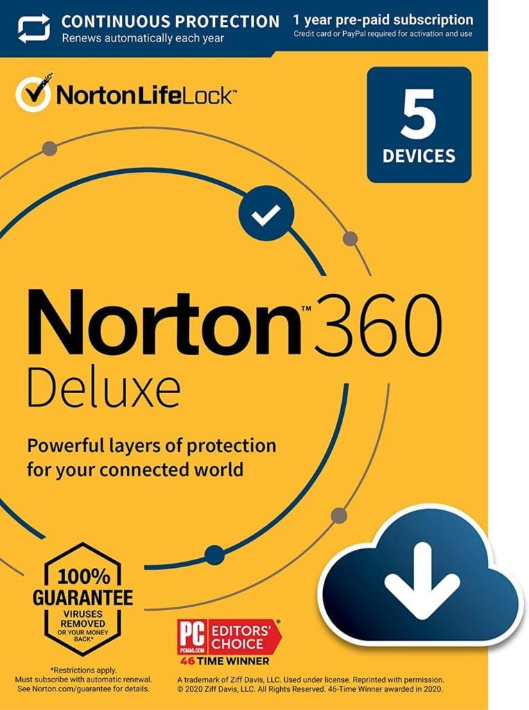 Norton 360 Deluxe – Antivirus software